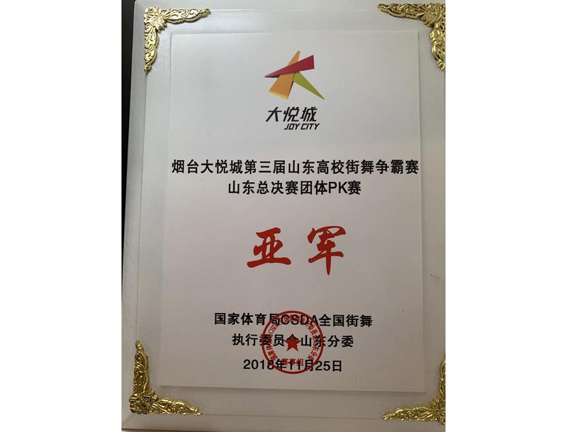 烟台大悦城第三届山东高校街舞争霸赛亚军